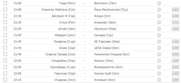 ЕВРОПА: Лига Европы - Квалификация